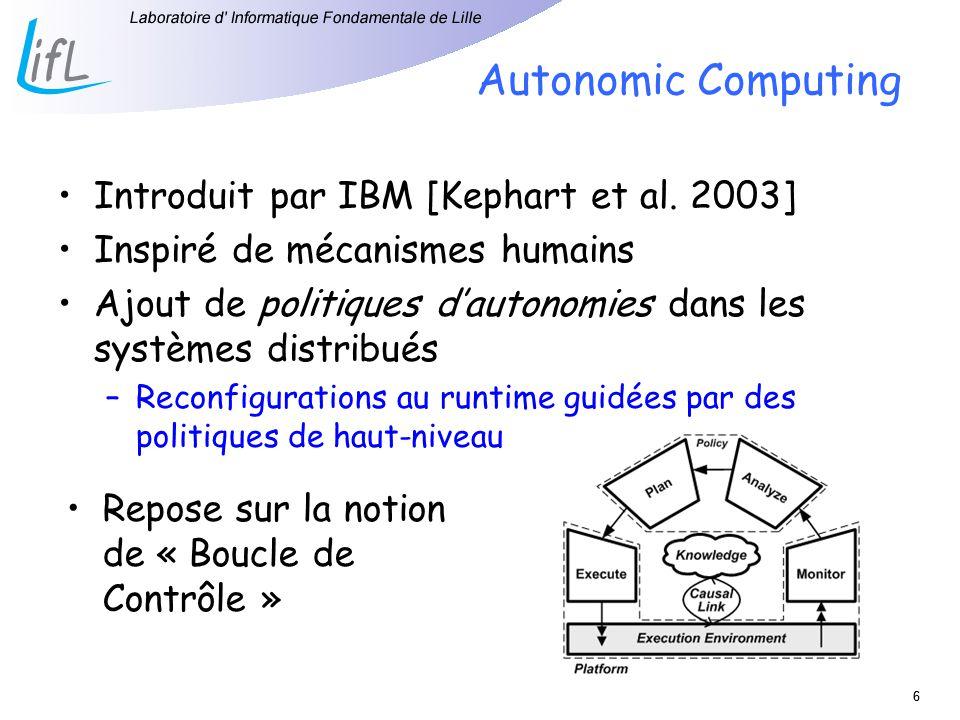 Autonomic Computing Introduit par IBM [Kephart et al. 2003]